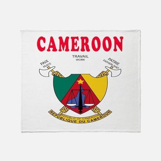 Cameroon Coat Of Arms Designs Throw Blanket