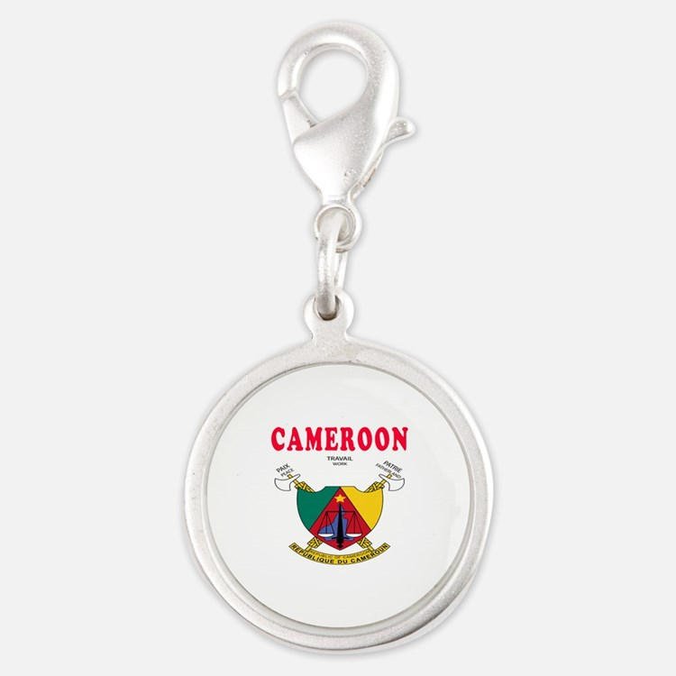 Cameroon Coat Of Arms Designs Silver Round Charm