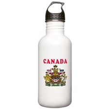 Canada Coat Of Arms Designs Water Bottle
