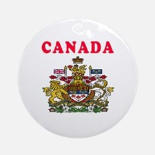 Canada Coat Of Arms Designs Ornament (Round)
