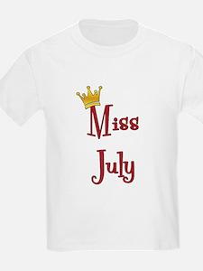 Miss July Kids T-Shirt
