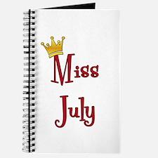 Miss July Journal