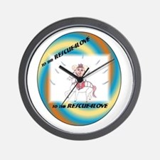 All4Love To the Rescue Wall Clock