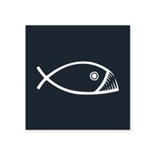 Evolution Fish Sticker