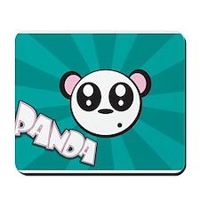 Fun Panda Cartoon Mousepad