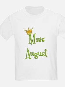 Miss August Kids T-Shirt