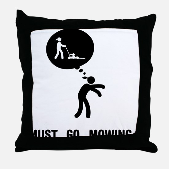 Lawn Mowing Throw Pillow