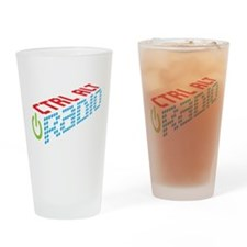 Ctrl Alt Radio Main Logo Drinking Glass