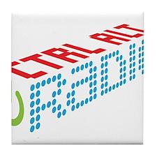 Ctrl Alt Radio Main Logo Tile Coaster