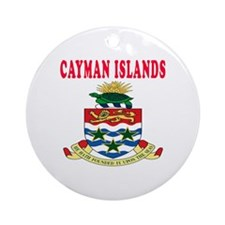 Cayman Islands Coat Of Arms Designs Ornament (Roun