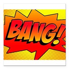"BANG Comic Sound Effect Square Car Magnet 3"" x 3"""