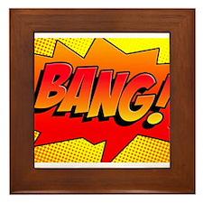 BANG Comic Sound Effect Framed Tile