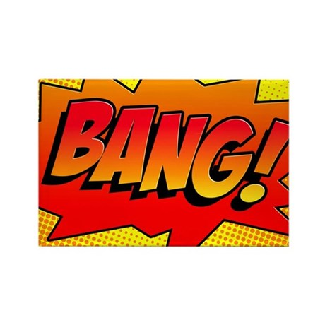 BANG Comic Sound Effect Rectangle Magnet