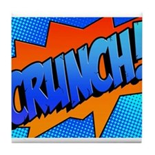 CRUNCH Comic Sound Effect Tile Coaster