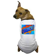 CRUNCH Comic Sound Effect Dog T-Shirt