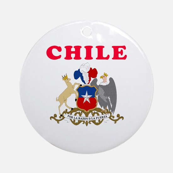 Chile Coat Of Arms Designs Ornament (Round)