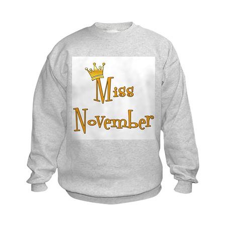 Miss November Kids Sweatshirt