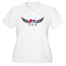 Puzzle Heart Plus Size T-Shirt