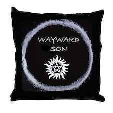 """Supernatural """"Wayward Son"""" logo Throw Pillow"""