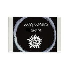"Supernatural ""Wayward Son"" logo Rectangle Magnet"