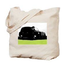 London's Black Taxi Cab Silhouette Tote Bag