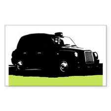 London's Black Taxi Cab Silhouette Decal