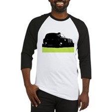 London's Black Taxi Cab Silhouette Baseball Jersey
