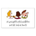 Unsupervised Children Rectangle Sticker