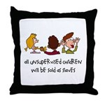 Unsupervised Children Throw Pillow