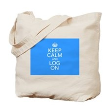 Keep Calm And Log On Tote Bag