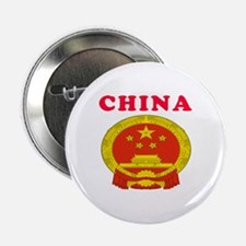 "China Coat Of Arms Designs 2.25"" Button (100 pack)"