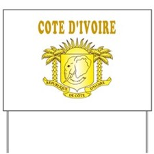 Cote D'ivoire Coat Of Arms Designs Yard Sign