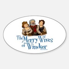 The Merry Wives of Windsor Oval Decal