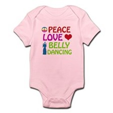 Peace Love Belly Dancing Infant Bodysuit