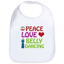 Peace Love Belly Dancing Bib