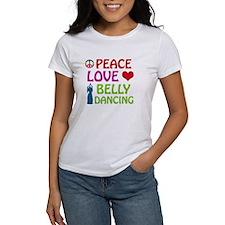 Peace Love Belly Dancing Tee