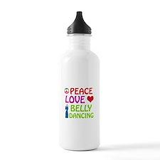 Peace Love Belly Dancing Water Bottle