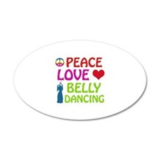 Peace Love Belly Dancing Wall Decal
