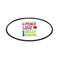 Peace Love Belly Dancing Patches