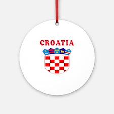 Croatia Coat Of Arms Designs Ornament (Round)