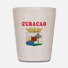 Curacao Coat Of Arms Designs Shot Glass