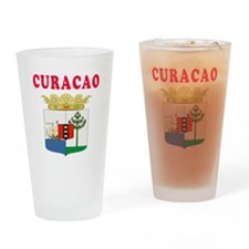 Curacao Coat Of Arms Designs Drinking Glass