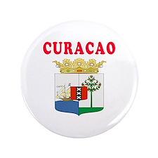 "Curacao Coat Of Arms Designs 3.5"" Button"