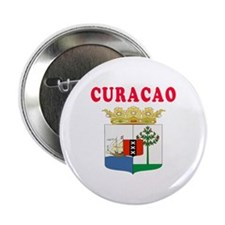 "Curacao Coat Of Arms Designs 2.25"" Button"