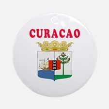 Curacao Coat Of Arms Designs Ornament (Round)