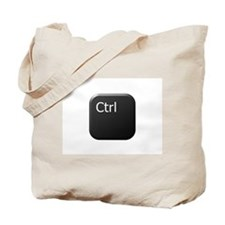 Black Keyboard Control Key Tote Bag