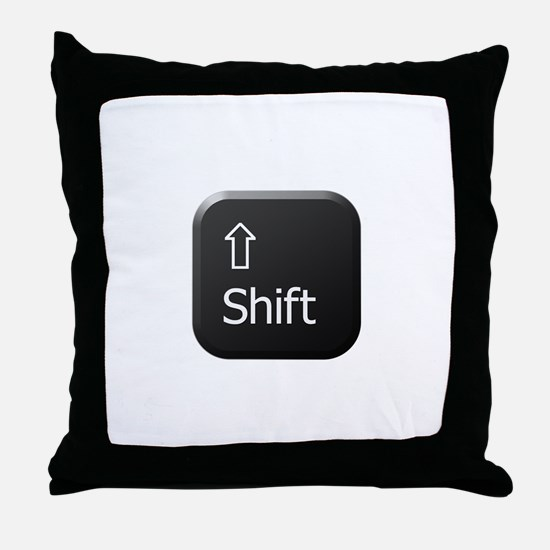 Black Keyboard Shift Key Throw Pillow