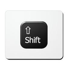 Black Keyboard Shift Key Mousepad