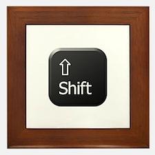 Black Keyboard Shift Key Framed Tile