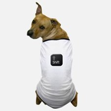 Black Keyboard Shift Key Dog T-Shirt